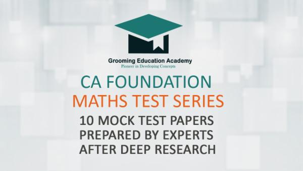 CA Foundation Maths Test Series cover
