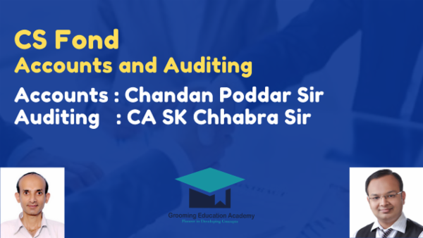 CS foundation Accounts and Auditing cover